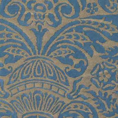 Campanelle Blue and Silvery Gold