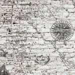 Map and Rough Brick Wall