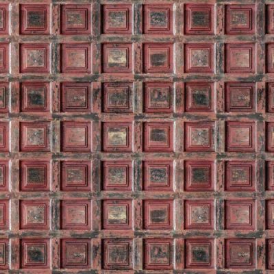 Red Vintage Wood