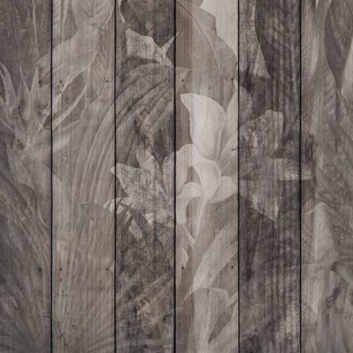 Tropical Dark Wood Wall