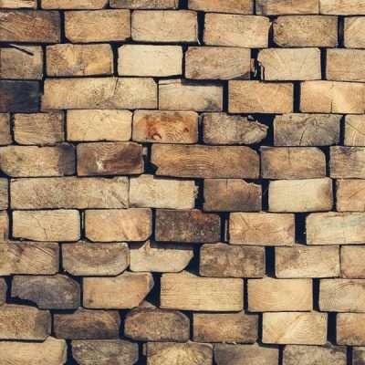 Wood Blocks Wall