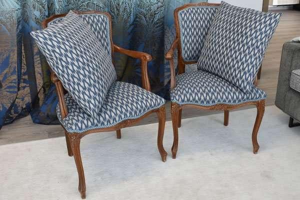Rivestimento sedie con tessuto Sanderson